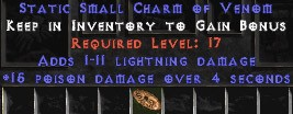 1-11 Lightning Damage w/ 15 Poison Damage SC