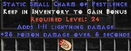 1-11 Lightning Damage w/ 25 Poison Damage SC