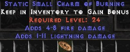 1-11 Lightning Damage w/ 4-8 Fire Damage SC