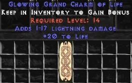 1-17 Lightning Damage w/ 20 Life GC