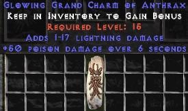 1-17 Lightning Damage w/ 50 Poison Damage GC