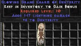 1-17 Lightning Damage w/ 6 Dex GC