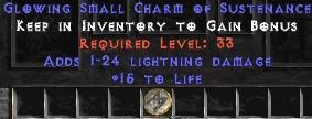 1-24 Lightning Damage w/ 15 Life SC
