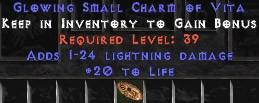 1-24 Lightning Damage w/ 20 Life SC
