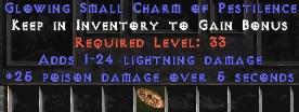1-24 Lightning Damage w/ 25 Poison Damage SC