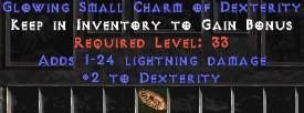 1-24 Lightning Damage w/ 2 Dex SC