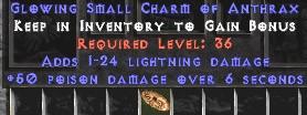 1-24 Lightning Damage w/ 50 Poison Damage SC