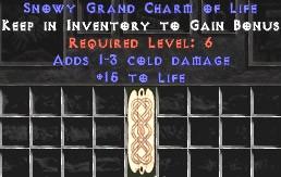 1-3 Cold Damage w/ 15 Life GC