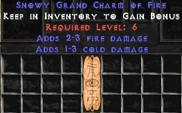 1-3 Cold Damage w/ 2-3 Fire Damage GC