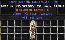 1-3 Fire Damage w/ 15 Life GC