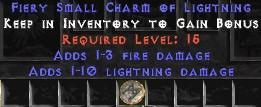 1-3 Fire Damage w/ 1-10 Lightning Damage SC