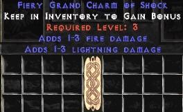 1-3 Fire Damage w/ 1-3 Lightning Damage GC