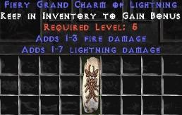 1-3 Fire Damage w/ 1-7 Lightning Damage GC