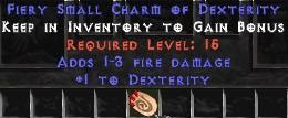 1-3 Fire Damage w/ 1 Dex SC