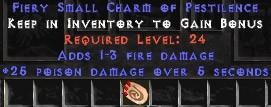 1-3 Fire Damage w/ 25 Poison Damage SC