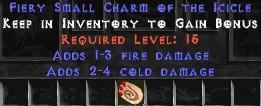 1-3 Fire Damage w/ 2-4 Cold Damage SC