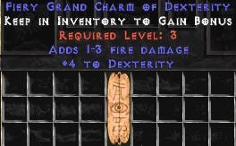 1-3 Fire Damage w/ 4 Dex GC