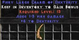 1-3 Fire Damage w/ 5 Dex LC