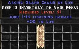 1-44 Lightning Damage w/ 20 Life GC
