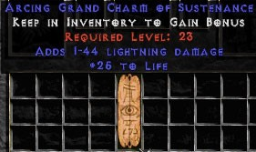 1-44 Lightning Damage w/ 25 Life GC