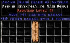 1-44 Lightning Damage w/ 50 Poison Damage GC