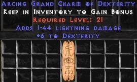 1-44 Lightning Damage w/ 6 Dex GC
