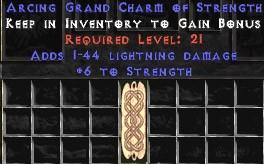 1-44 Lightning Damage w/ 6 Str GC