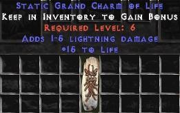 1-5 Lightning Damage w/ 15 Life GC