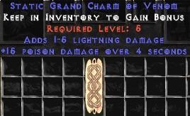 1-5 Lightning Damage w/ 15 Poison Damage GC