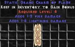 1-5 Lightning Damage w/ 1-2 Fire Damage GC