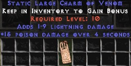 1-9 Lightning Damage w/ 15 Poison Damage LC