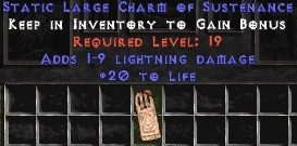 1-9 Lightning Damage w/ 20 Life LC