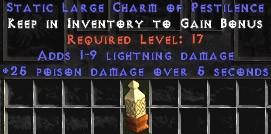 1-9 Lightning Damage w/ 25 Poison Damage LC