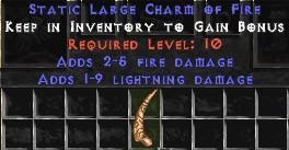 1-9 Lightning Damage w/ 2-5 Fire Damage LC