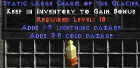 1-9 Lightning Damage w/ 3-8 Cold Damage LC