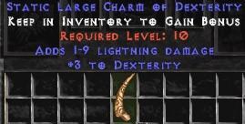 1-9 Lightning Damage w/ 3 Dex LC