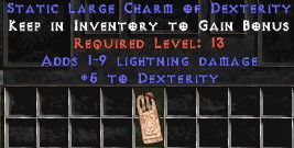 1-9 Lightning Damage w/ 5 Dex LC