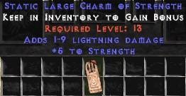 1-9 Lightning Damage w/ 5 Str LC