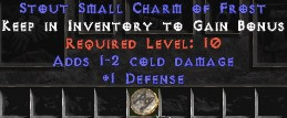1 Defense w/ 1-2 Cold Damage SC