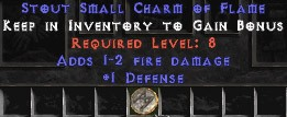 1 Defense w/ 1-2 Fire Damage SC