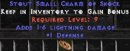 1 Defense w/ 1-6 Lightning Damage SC