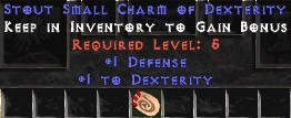 1 Defense w/ 1 Dex SC