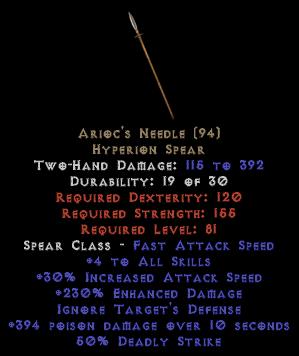 Arioc's Needle - 230% ED