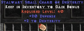 20-26 Defense w/ 2 Dex SC