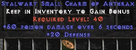 20-26 Defense w/ 50 Poison Damage SC