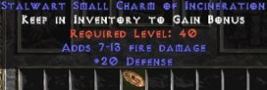 20-26 Defense w/ 7-13 Fire Damage SC