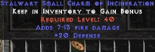 20-26 Defense w/ 7-13 Fire Damage SC