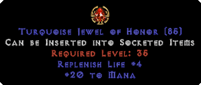 20 to Mana / +4 Life Replenish Jewel