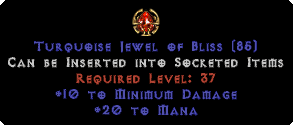 20 to Mana / 10 Min Damage Jewel