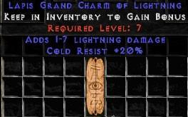 20 Resist Cold w/ 1-7 Lightning Damage GC